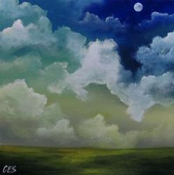Art: Blue Moon by Artist Christine E. S. Code ~CES~