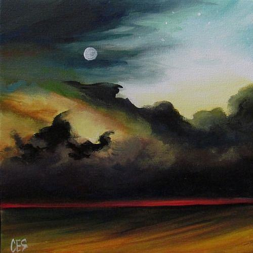Art: Red Horizon by Artist Christine E. S. Code ~CES~