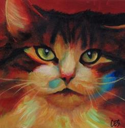 Art: Calico in Color by Artist Christine E. S. Code ~CES~