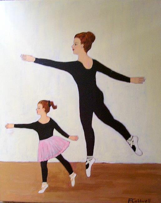 Art: Sisters at Rehearsal by Artist Fran Caldwell
