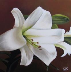 Art: Easter Lily by Artist Christine E. S. Code ~CES~