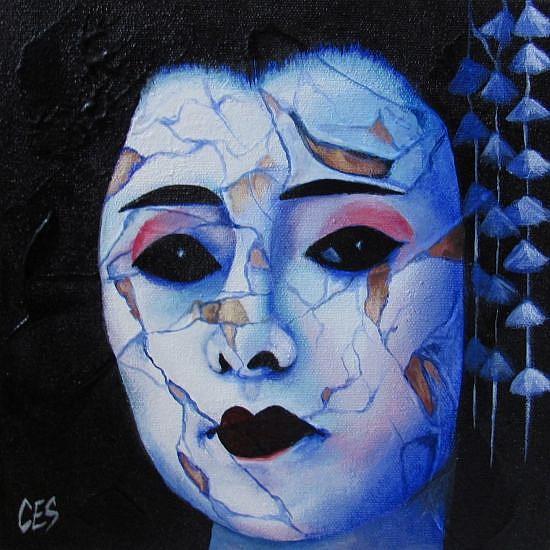 Art: Broken Geisha by Artist Christine E. S. Code ~CES~