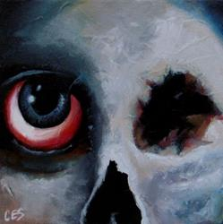 Art: The Almost Mostly Dead With One Big Eye Skull Face Guy by Artist Christine E. S. Code ~CES~