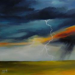 Art: Fire in the Sky by Artist Christine E. S. Code ~CES~