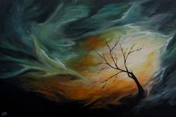 Art: --untitled-- Custom Painting by Artist Christine E. S. Code ~CES~