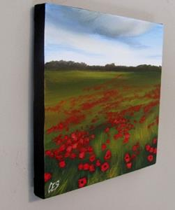Detail Image for art Rain Clouds Over the Poppy Field