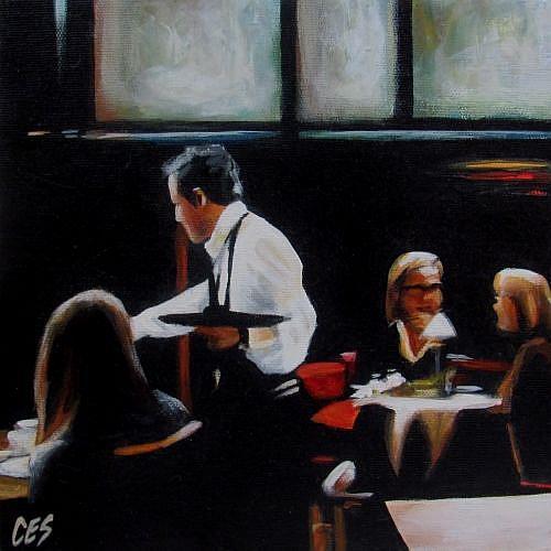 Art: The Cafe by Artist Christine E. S. Code ~CES~