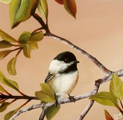 Art: Young Chickadee by Artist Christine E. S. Code ~CES~