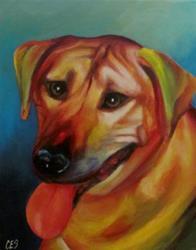 Art: Custom Abstract Pet Portrait : Kito by Artist Christine E. S. Code ~CES~