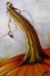 Art: Alla Prima Pumpkin by Artist Christine E. S. Code ~CES~