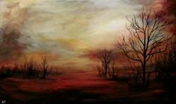 Art: Beyond the Trees by Artist Christine E. S. Code ~CES~