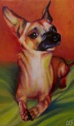 Art: Custom Abstract Pet Portrait: Slick by Artist Christine E. S. Code ~CES~