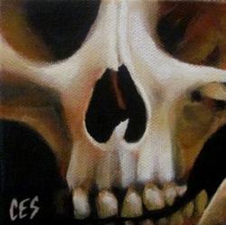 Art: 29 Faces in February: Skull #1 by Artist Christine E. S. Code ~CES~