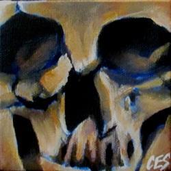 Art: 29 Faces: Skull #2 by Artist Christine E. S. Code ~CES~