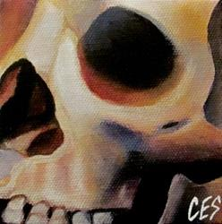 Art: 29 Faces: Skull #19 by Artist Christine E. S. Code ~CES~