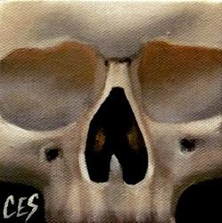 Art: 29 Faces: Skull #25 by Artist Christine E. S. Code ~CES~