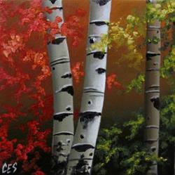 Art: Autumn Trio by Artist Christine E. S. Code ~CES~