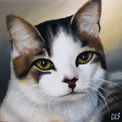 Art: Contemplation by Artist Christine E. S. Code ~CES~