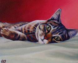 Art: On The Bed by Artist Christine E. S. Code ~CES~