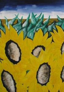 Detail Image for art Stormy Sunflowers