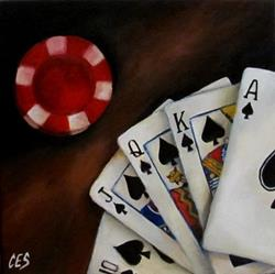 Art: Royal Flush by Artist Christine E. S. Code ~CES~