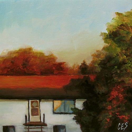 Art: Across the Street by Artist Christine E. S. Code ~CES~