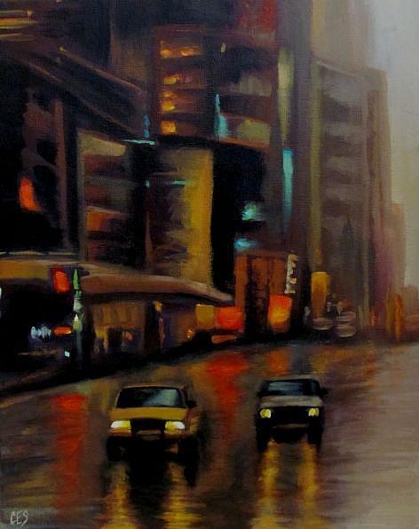 Art: City Lights by Artist Christine E. S. Code ~CES~