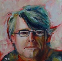 Art: Stephen King by Artist Christine E. S. Code ~CES~
