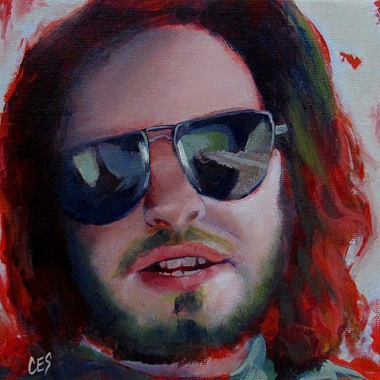 Art: The Hippie by Artist Christine E. S. Code ~CES~