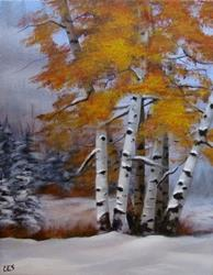 Art: Early Snow by Artist Christine E. S. Code ~CES~