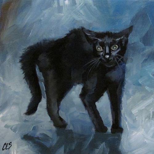 Art: Spooked by Artist Christine E. S. Code ~CES~
