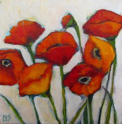 Art: Alla Prima Poppies by Artist Christine E. S. Code ~CES~