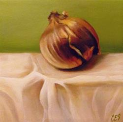Art: Onion and Linen by Artist Christine E. S. Code ~CES~