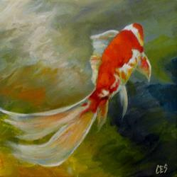 Art: Swimming Away by Artist Christine E. S. Code ~CES~
