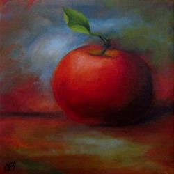Art: An Apple For You by Artist Christine E. S. Code ~CES~