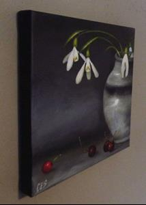 Detail Image for art Snowdrops and Cherries