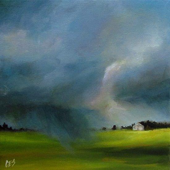 Art: The Sun Chasing the Rain by Artist Christine E. S. Code ~CES~