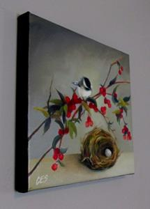 Detail Image for art Chickadee and Nandina