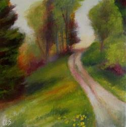 Art: Path to Sunset by Artist Christine E. S. Code ~CES~