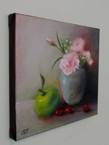 Detail Image for art Carnations and Fruit Medley