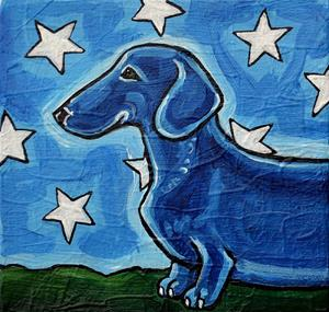 Detail Image for art Dachshund and Stars