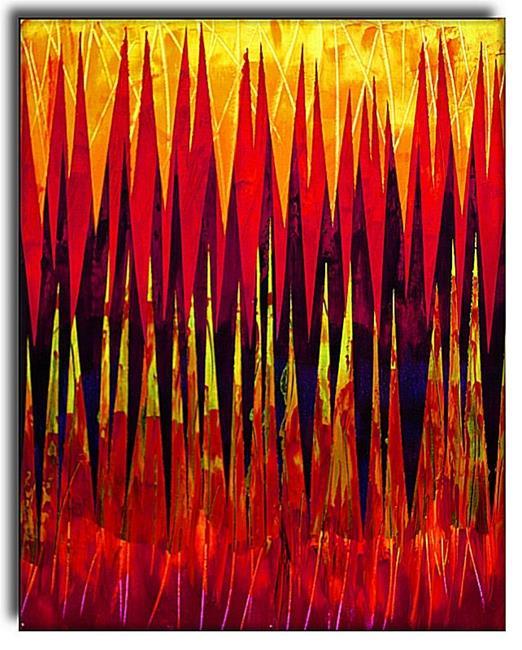 Art: Tall Grass at Dusk by Artist Amanda Hone