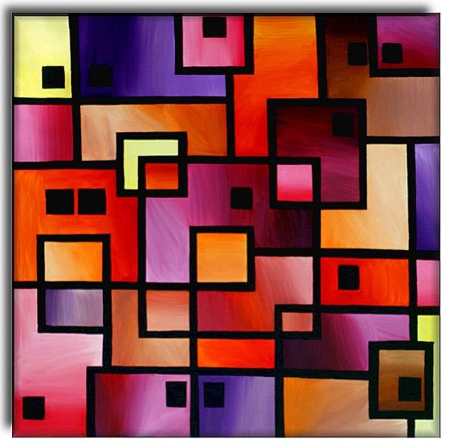 Art: Square Dance by Artist Amanda Hone
