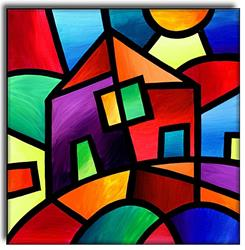 Art: House in the Country by Artist Amanda Hone