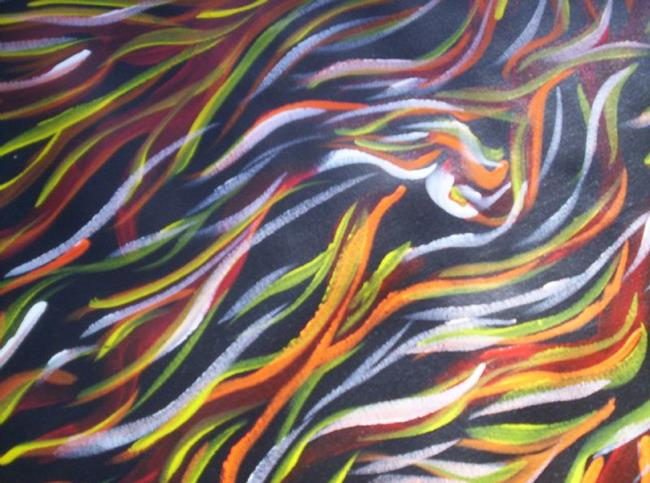 Art: Porcupine Grass (sold) by Artist Gypsy {Ani } T.  Draven