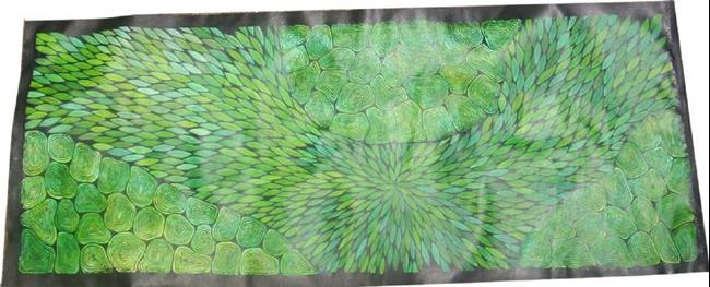 Art: Medicine Leaves & Claypans by Artist Gypsy {Ani } T.  Draven