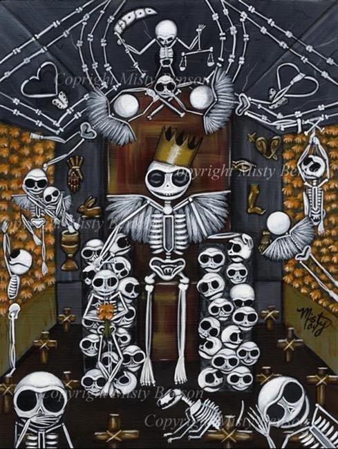 Art: El Dia de Los Muertos by Artist Misty Monster (Benson)
