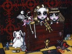 Art: Dark Sisters #5: Terror in the Toy Chest by Artist Misty Benson