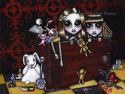 Art: Dark Sisters #5: Terror in the Toy Chest by Artist Misty Monster (Benson)
