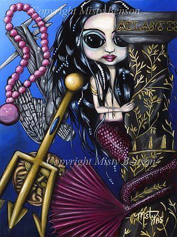 Art: Mermaid Memoirs: The Fall of Atlantis by Artist Misty Monster (Benson)